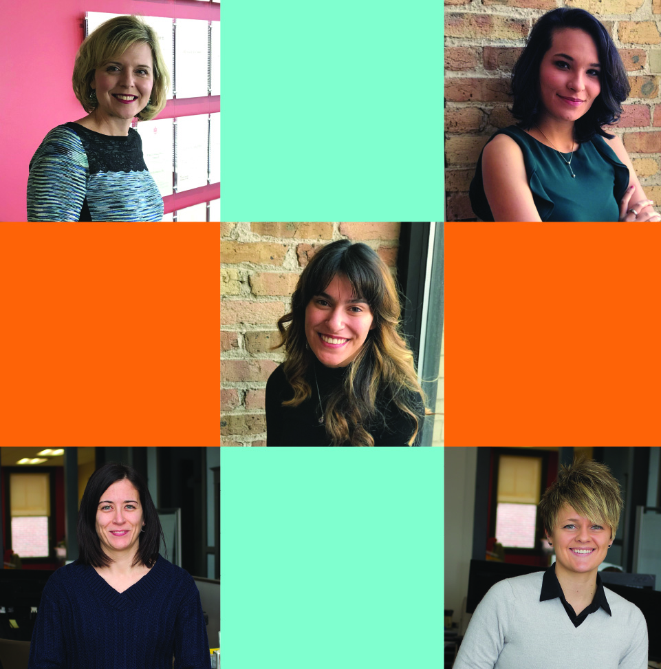 Image grid with portraits of their new employees.